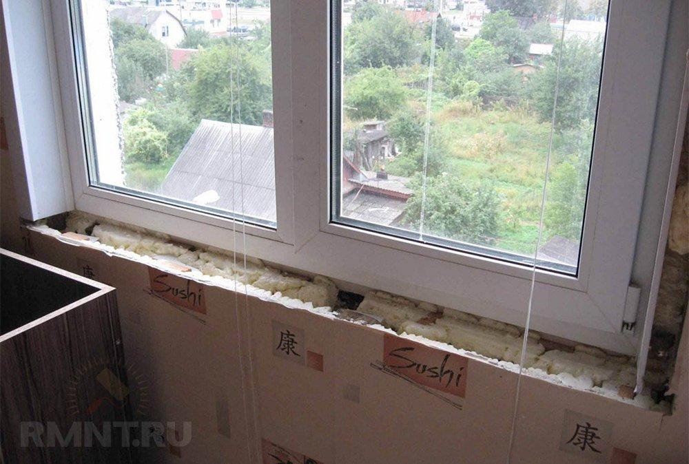 Как заменить подоконник в пластиковом окне алюминиевые окна