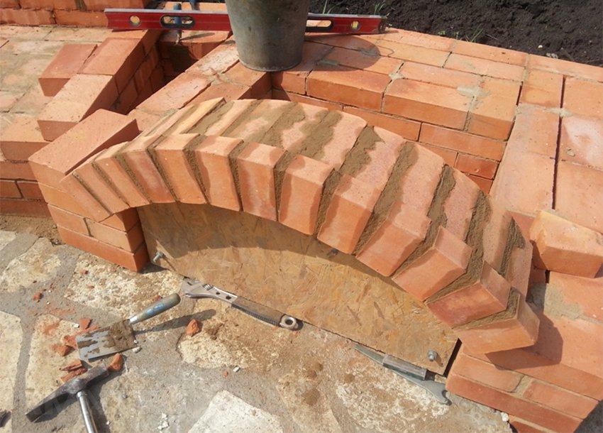 Расход материалов на кладку столбов арок и сводов