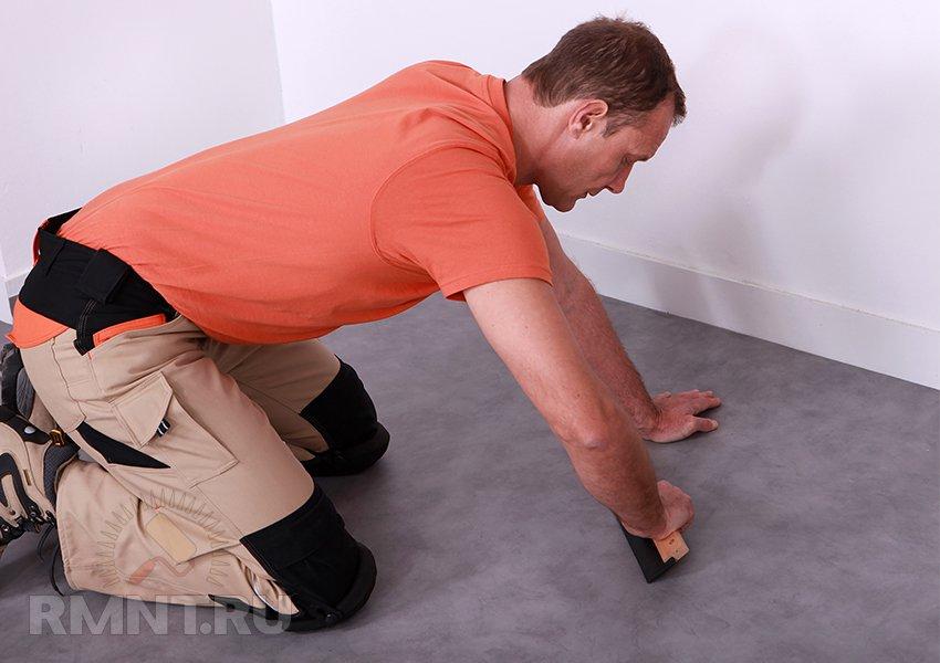 Как заклеить линолеум в домашних условиях