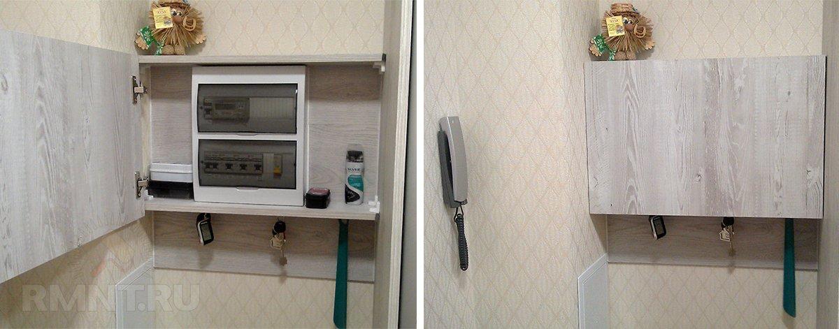 Как замаскировать электрощиток в прихожей