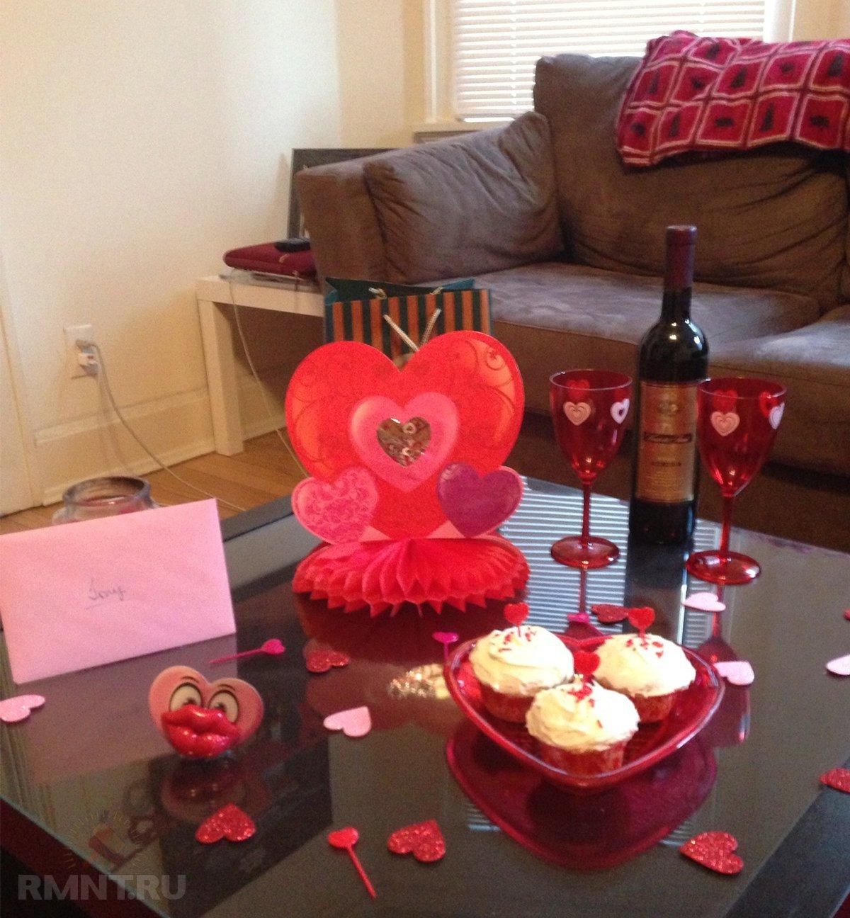 Романтичный интерьер к 14 февраля — самые простые варианты