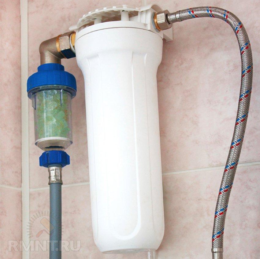 Фильтр для воды для дачи - проточный магистральный, из 41