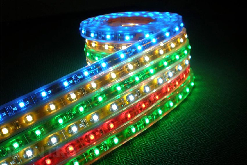 Светодиодные ленты для подсветки: виды, типы, подключение