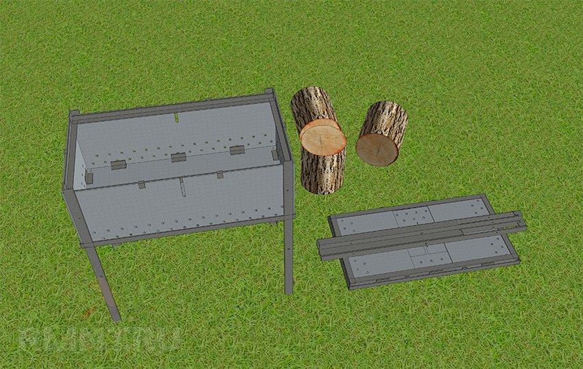 Железные мангалы своими руками чертежи фото 215