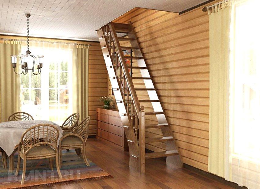 Как сделать лестницу деревянную на второй этаж