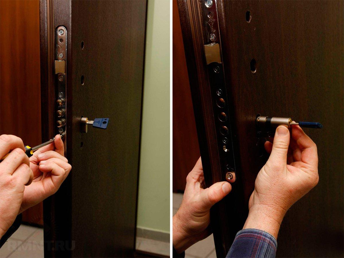 Замена личинки замка входной двери своими руками фото