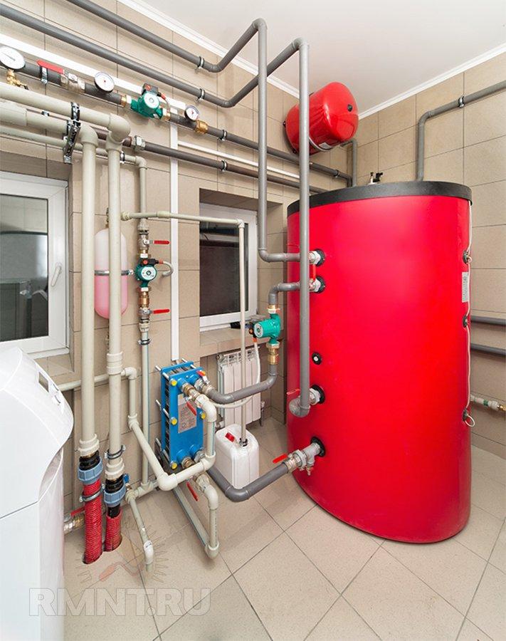 Система отопления дома на антифризе