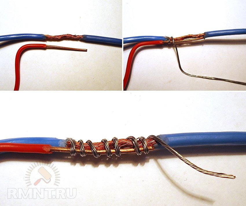 Виды электромонтажных соединений многожильных проводов
