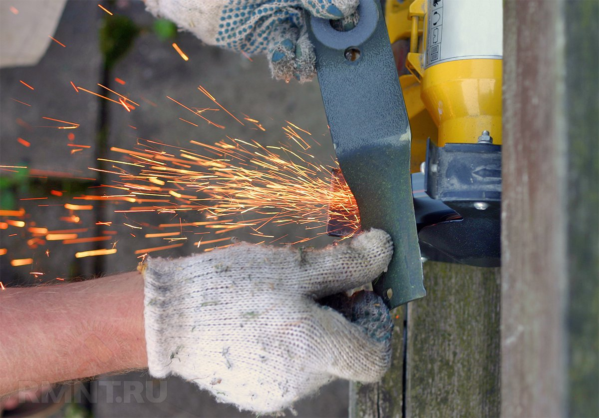 Заточка ножа газонокосилки на точиле