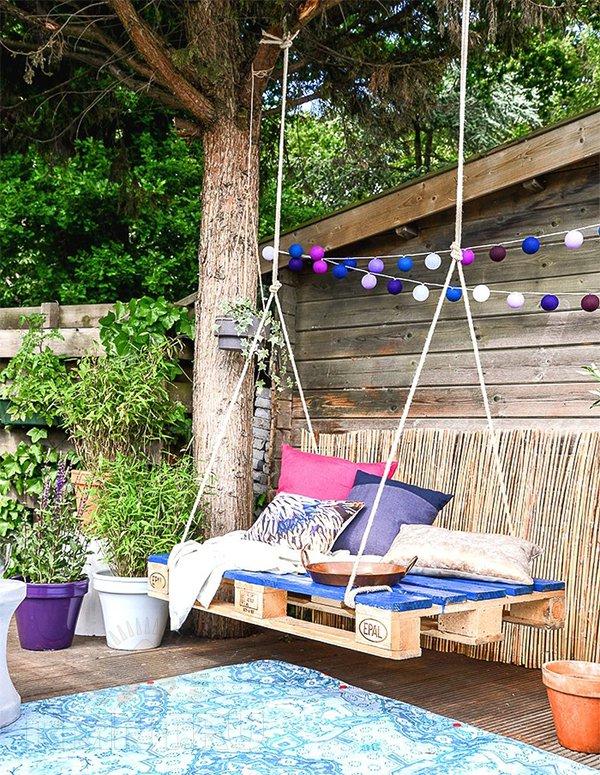 Как сделать садовые качели из дерева своими руками: фото
