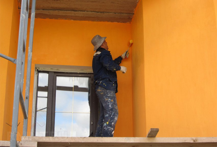 Покраска мокрого фасада