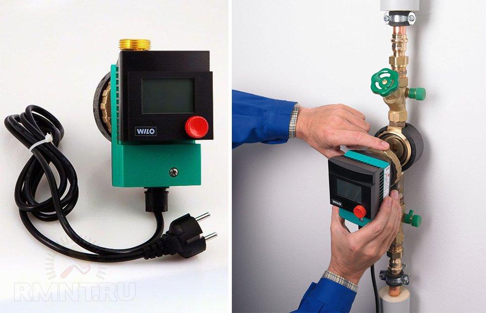 Насос со встроенным таймером и термостатом Wilo Star-Z 15 ТТ