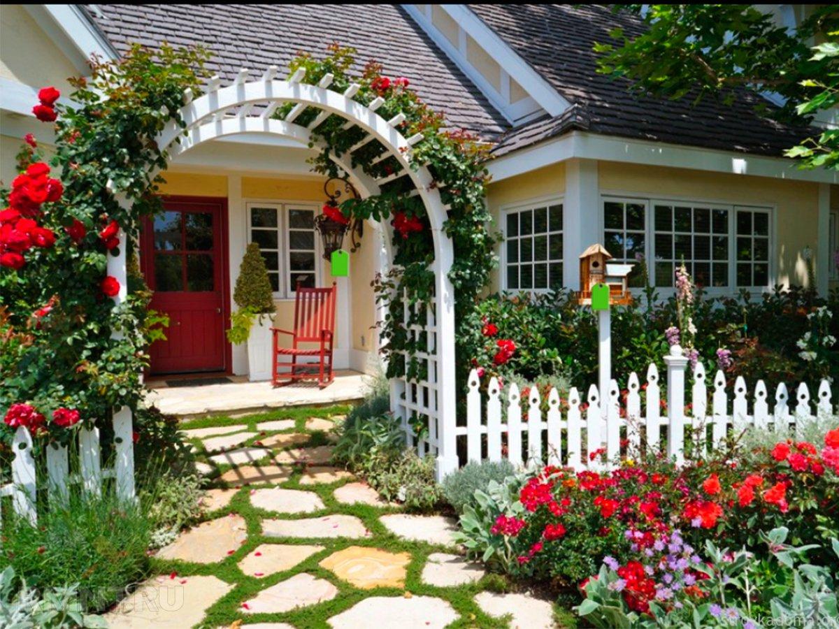 Как оформить вход в дачный домик