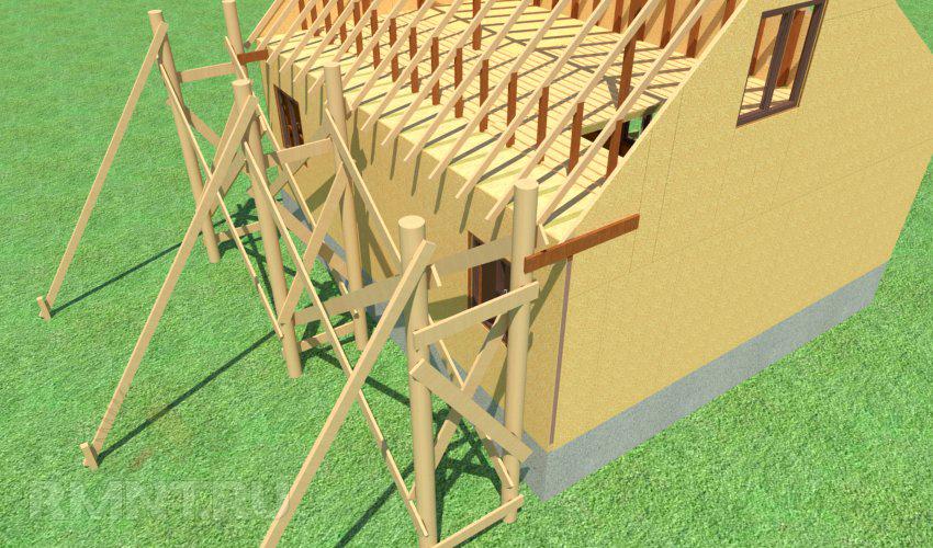 Строительные леса для строительства частного дома