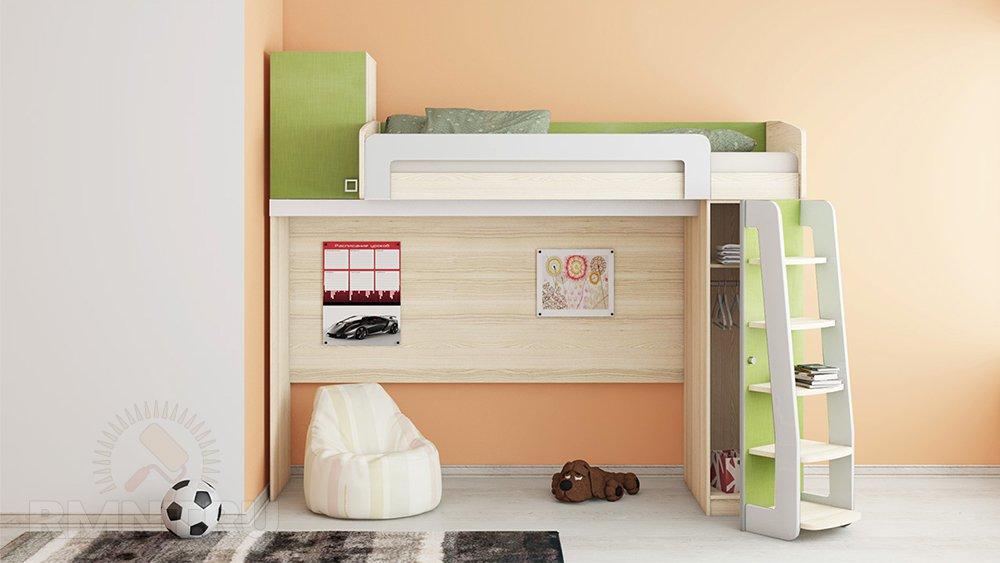 Детская кровать-чердак из ДСП