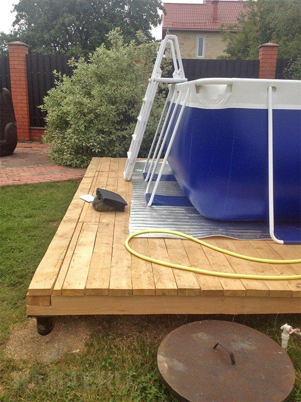 Как сделать основание для каркасного или надувного бассейна
