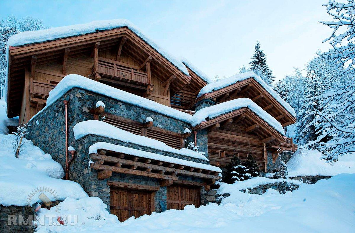 Зимние заснеженные коттеджи: красивая фотоподборка