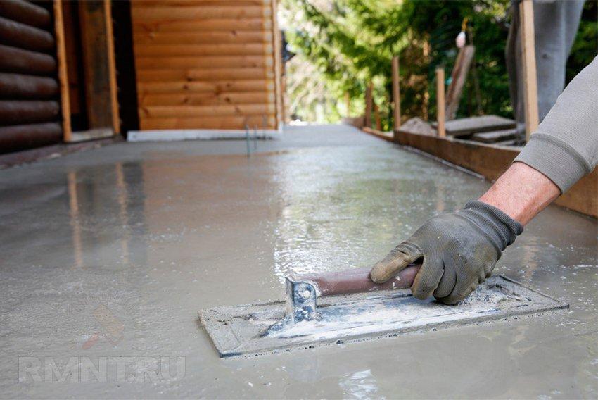Декоративная отделка отмостки вокруг дома — Строим сами дом