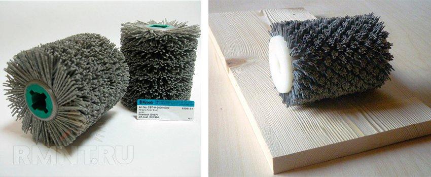 Щетка нейлоновая для браширования древесины