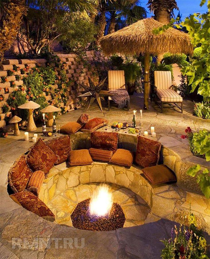 Утопленный сад на участке