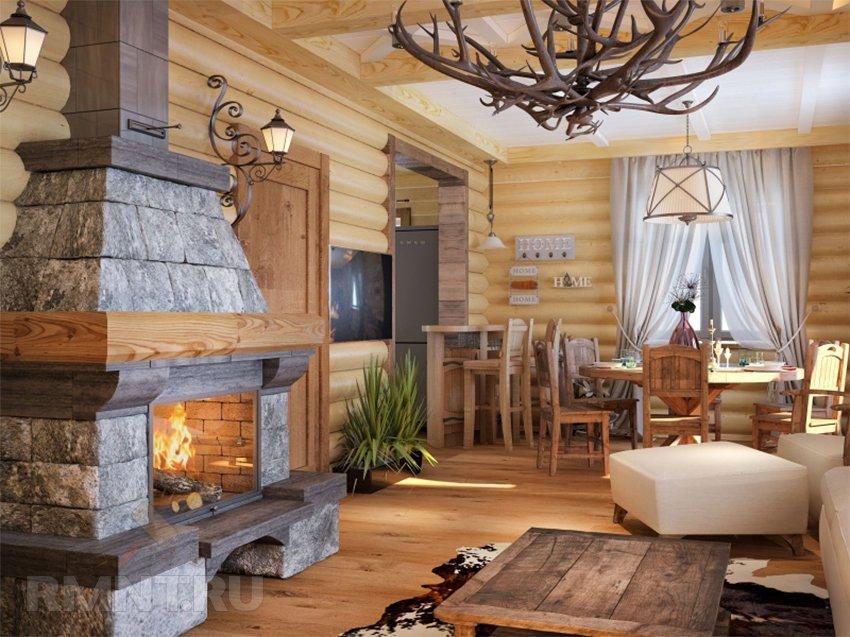 интерьер гостиной в стиле шале 5 особенностей гармоничного