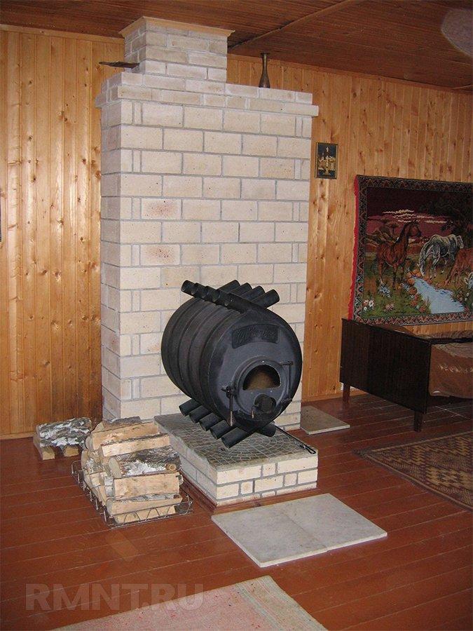 Печь Булерьян в деревянном доме