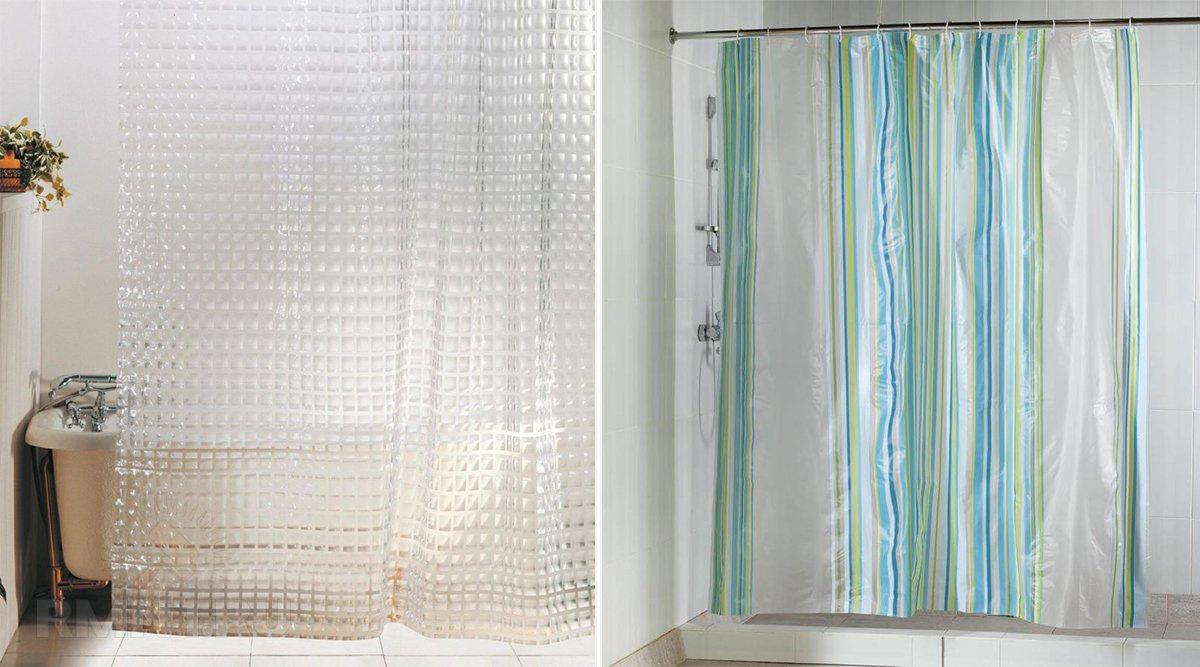 Полиэтеленовые шторки в, как мы с вами постоянно говорим, ванную