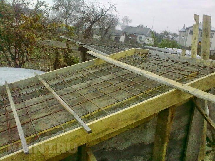 крыша подвала из бетона поведения