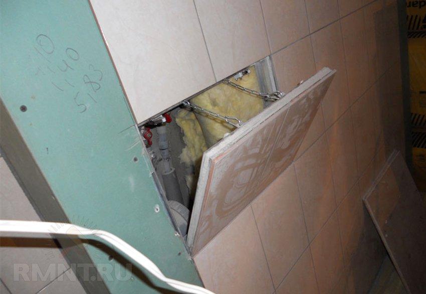 Сантехнический люк под плитку своими руками фото