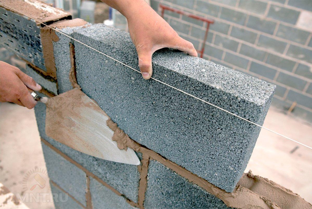 стоимость кладки бетонных блоков