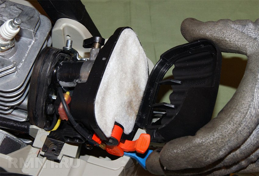 Воздушный фильтр для бензопилы своими руками