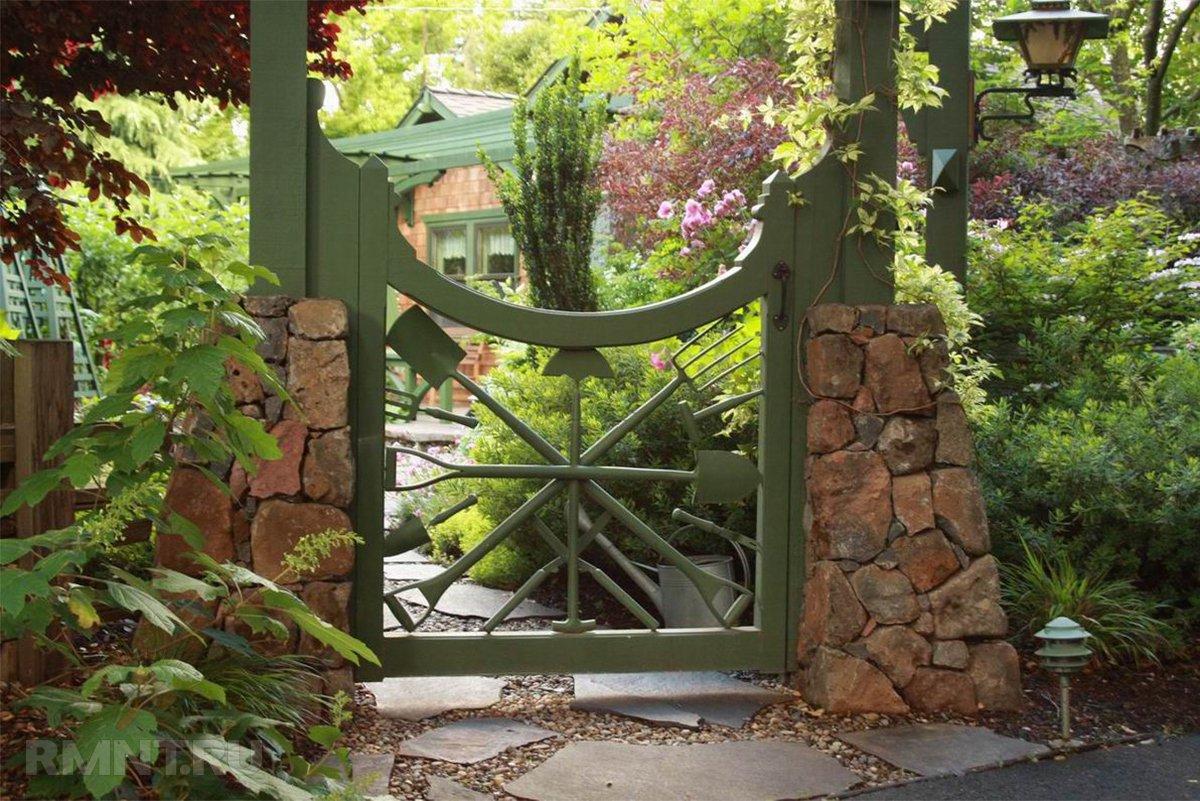 Как украсить ворота своими руками фото 60