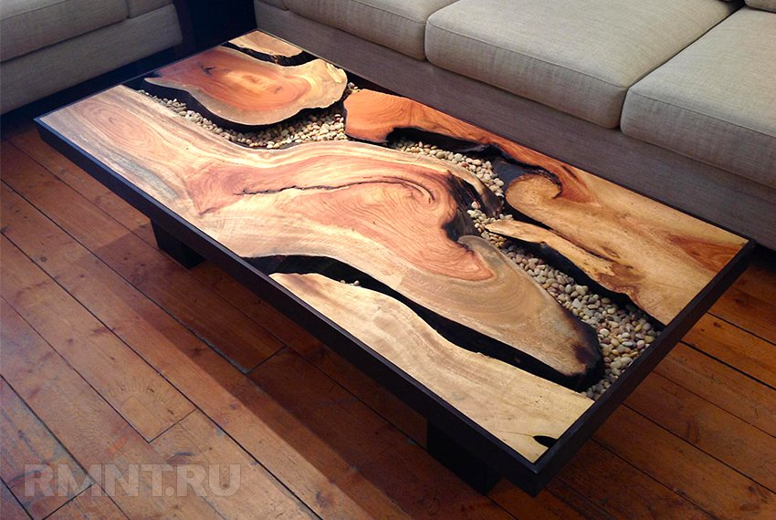 Удивительные деревянные столы