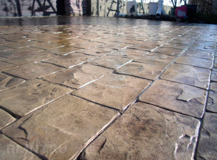штамп для бетона своими руками