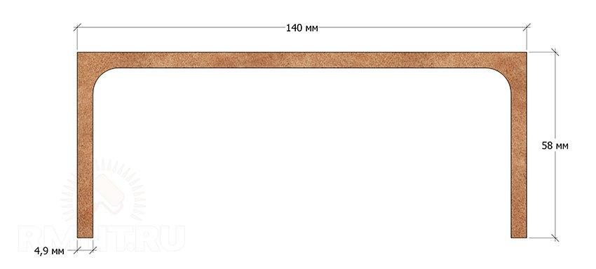 Размеры швеллера 14П