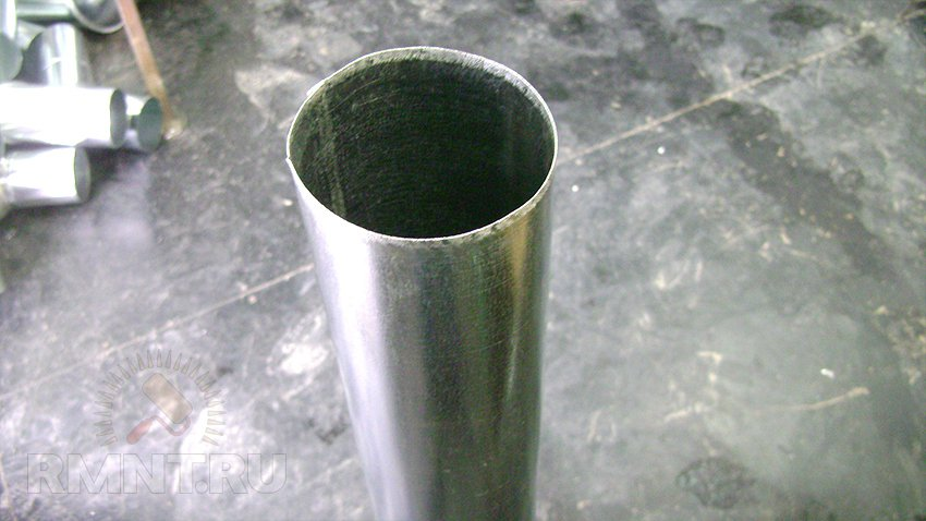 Как делать трубу из оцинковки своими руками 76