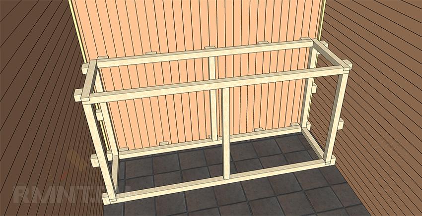 Построить стеллаж из бруса 68