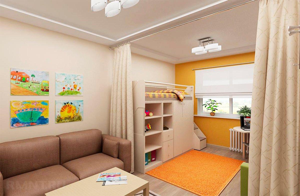 Дизайн интерьера квартиры с ребенком.