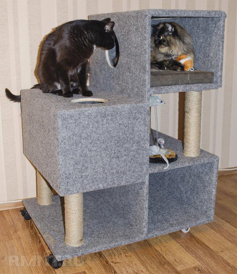 сделать домик для кошки своими руками фото образовался