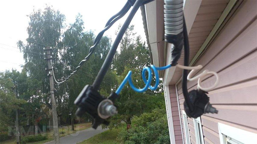 Подключение СИП кабеля