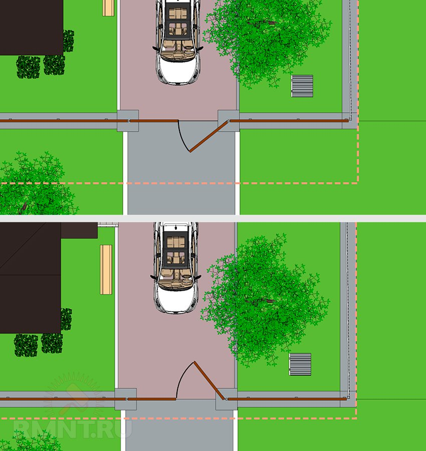 Правила расположения жилых строений и хозяйственных построек на участках