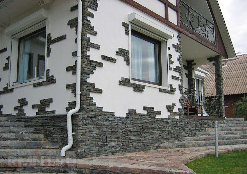 Отделка фасадов облицовочным камнем