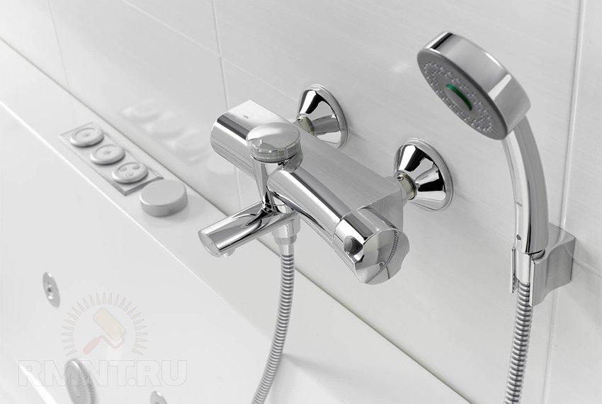 Умная сантехника: смесители для ванной с термостатом
