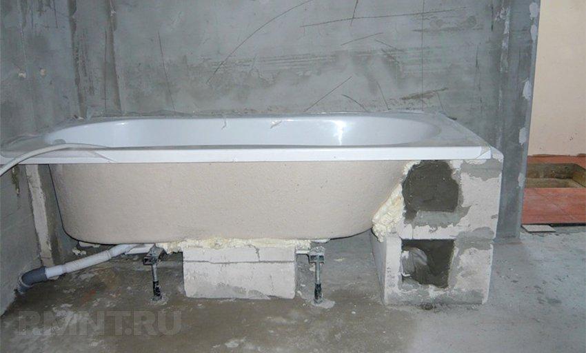 как установить стальную ванну что