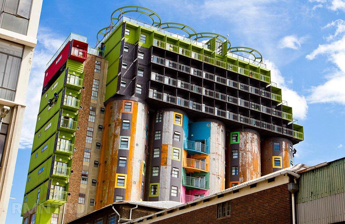 Элеватор в качестве студенческого общежития в Йоханнесбурге