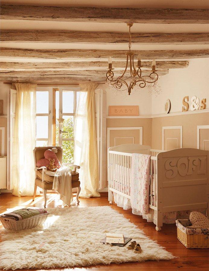 Балочный потолок в детской
