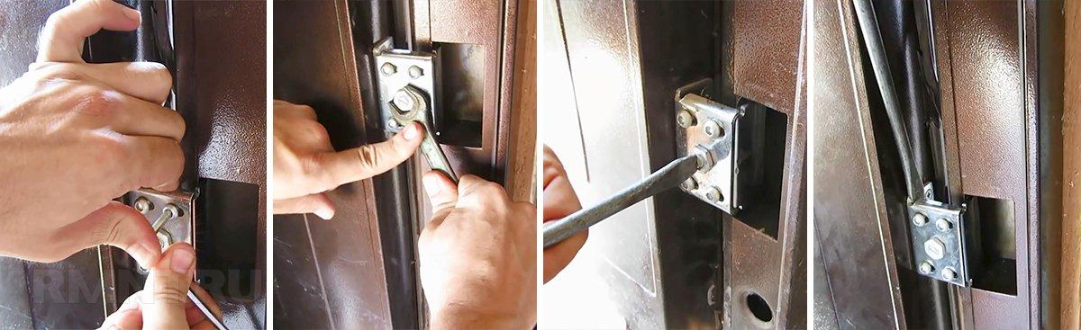 как устранить перекос металлической двери Rmntru