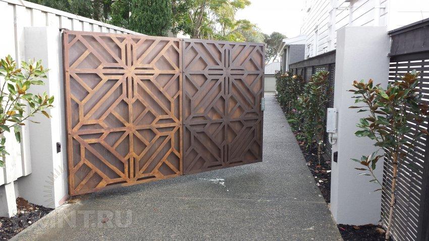 Самые красивые и оригинальные ворота. 15 вдохновляющих идей