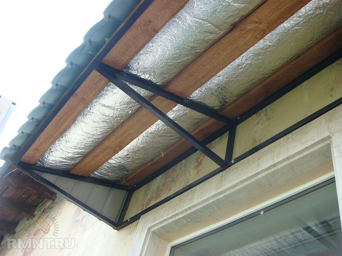 Крыша над балконом: варианты обустройства