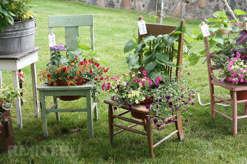 Как оформить сад своими руками фото